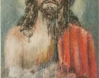 "Original Charcoal Illustration ""Jesus Christ"""