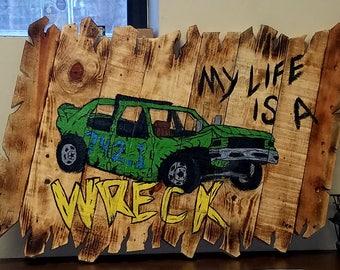 Demolition derby Car Wall Art