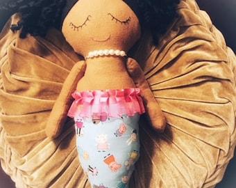 Custom Mermaid Doll, Mermaid Rag Doll