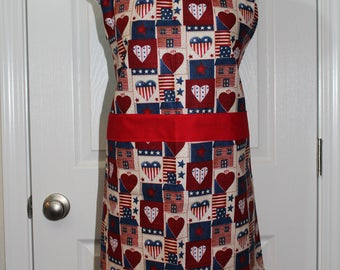 Adult Indepenedence day Apron
