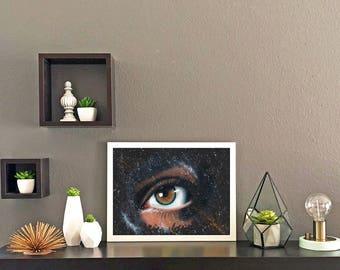 Galaxy Eye Watercolor Print