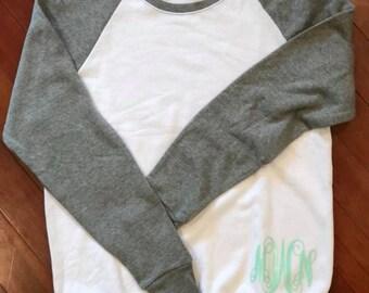 Monogram Baseball Sweatshirt