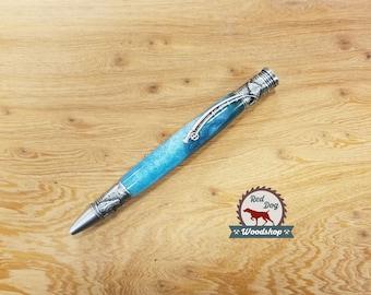 Fly Fishing Pen, Beautiful Burl and Acrylic Hybrid, Fishing Enthusiast, Custom Gifts for Men, Custom Gifts for Women