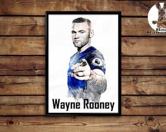 Wayne Rooney print wall art home decor poster