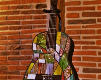 Stained glass Tiffany guitar