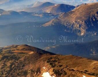 Colorado Mountain Landscape Photo, Rocky Mountain National Park