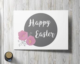 Happy Easter Card - Printable Digital File 5x7