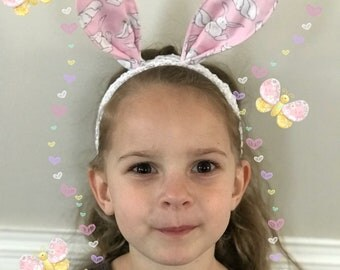 Easter Headband, Bunny Ears Headband, Baby Headband