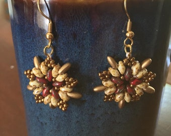 Star Burst Beaded Earrings