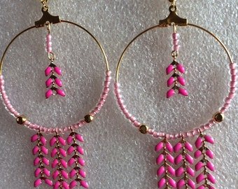 Spike chain earrings,