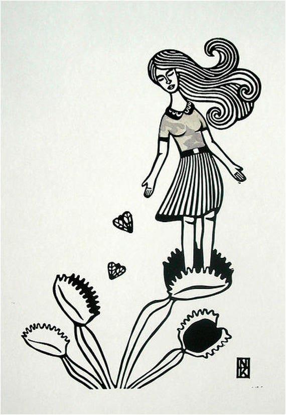 Sacrifice - Linoleum Print