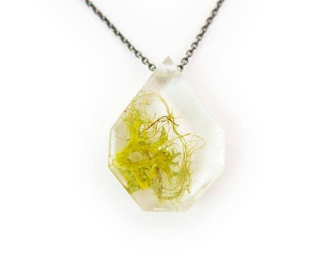 Terrarium Eco Resin Moss Necklace