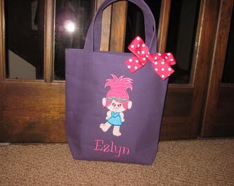 TOTE BAG Trolls Poppy Personalized Toddler or Big Kid Tote