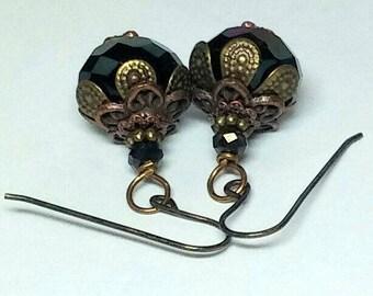 Dark Star -- earrings
