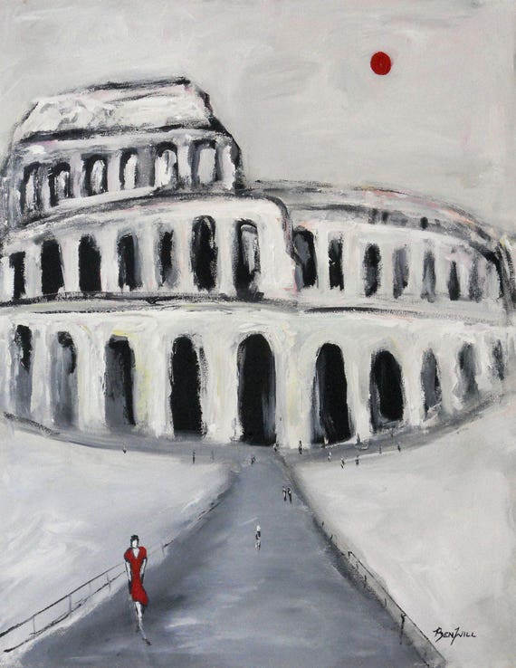 Coliseum Rome - Italy Modern fine Art Print Giclee from Original Oil Painting by BenWill