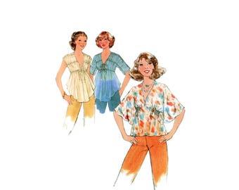 70s uncut Boho Blouse pattern Goddess Blouse pattern Prairie Blouse pattern vintage 34-26.5-36 Simplicity 8576