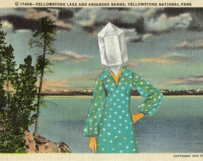 Surreal Postcard Art Collage