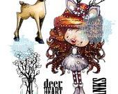 Deerheart | Christmas|Digital Stamp