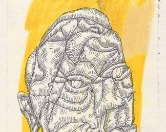 Head (original drawing, 2017)