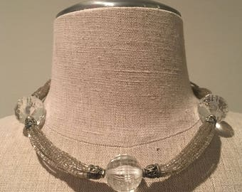 Handmade vintage beaded choker necklace