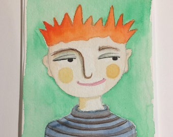 Original Watercolour : Oliver