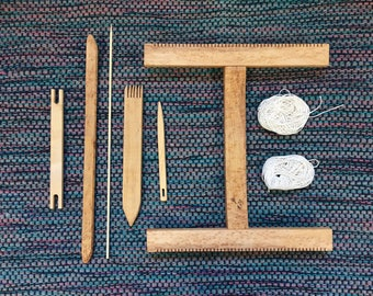 Intermediate Hokett Loom Kit - Maple Wood Weaving Loom - Handmade Lap Loom - Medium Tapestry Loom - Travel Portable Loom - Small Frame Loom