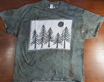 2XL Batik Pines Forest unisex 2x Large