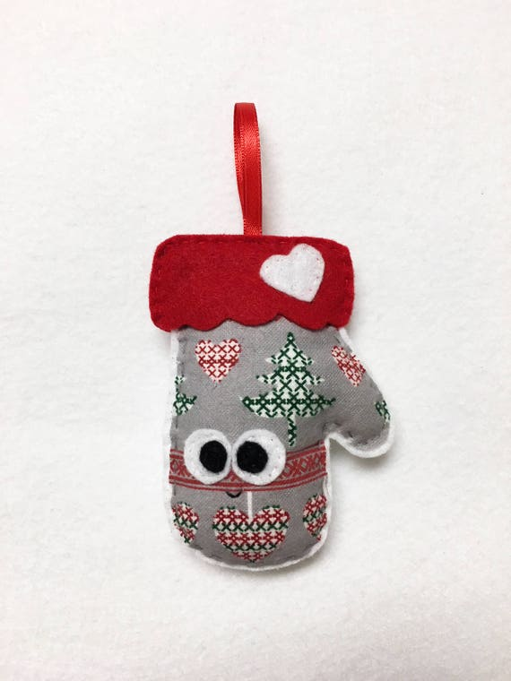 Limited Edition Mitten Ornament, Christmas Ornament, Marleen the Mitten, Secret Santa Gift, Stocking Stuffer
