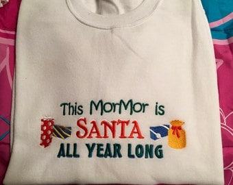 Mormor Santa Sweatshirt