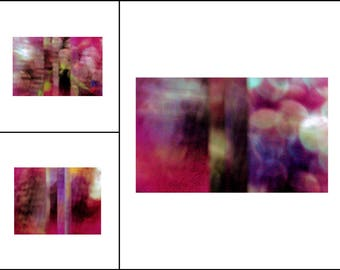 Sultry Sunset ~ Bold Boho Style Abstract Geometric Color Photography Collection ~ Set of 3 ~ Original Photography by Suzanne MacCrone Rogers