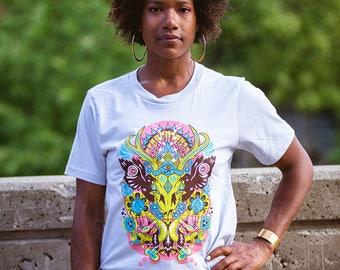 New Duds Artist Series Skull tshirt - LochNess