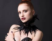Black Feather Neck Piece/Choker/Collar