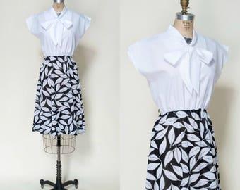 1970s Dress --- Vintage Secretary Dress