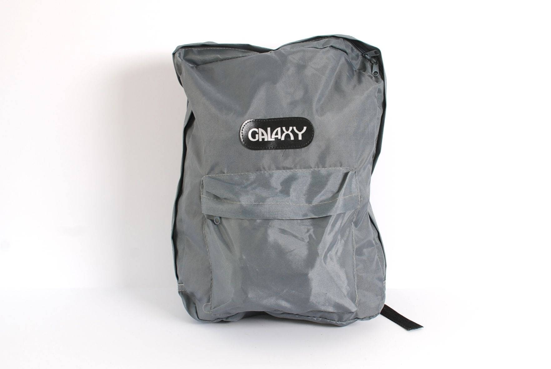 GRUNGE grey SILVER nylon canvas 80s 90s BACKPACK jansport style ...