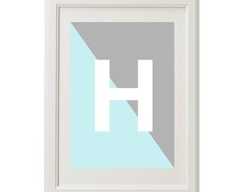 Abstract Boys Personalised Bedroom Wall Print