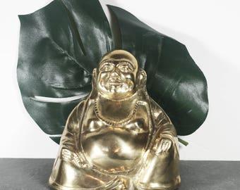Vintage Brass Buddha Statue