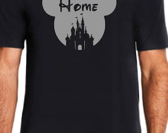 Home Mickey Head-Glitter Silver -Disney shirt -Special order