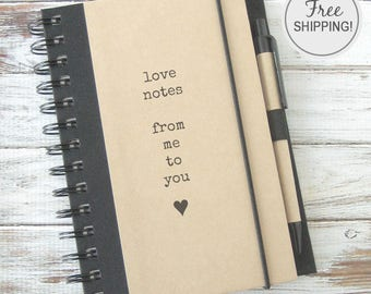Love Journal Fiance Gift Valentines Day Gift Journal Notebook Boyfriend Gift for Girlfriend Gift for Couples Gift Free Shipping LN1