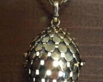 Antique bronze dragon egg glowing pendant necklace LED - Choose your color