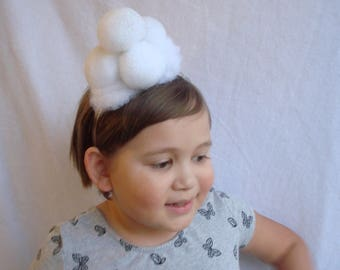Christmas Headband Winter Snow Snowball Headband Hair Party Accessories Ugly Christmas Free Shipping Snow Ball Hair Band Xmas Sparkle