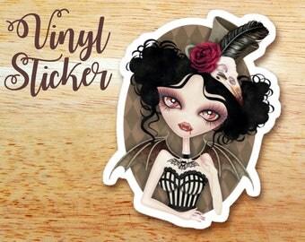 Countess Nocturne Vampire Die-cut Vinyl Sticker Decal