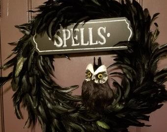 Harry Potter Spells Wreath