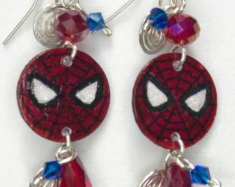 Spider-Man Small Dangle Earrings