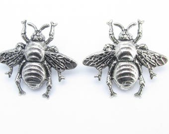 Art Deco Honey Bee Earrings post filigree earrings silver earrings Bee earrings MyElegantThings