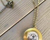 Otter Necklace - Cute necklace for girlfriend from otter print - Otter gift for her - otter lockets for girls