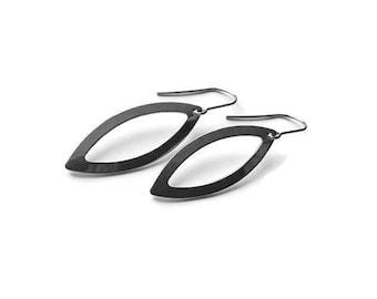 Oval dangle earrings - Nickel free stainless steel