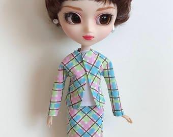 Handmade Skirt Top Jacket fits dolls like Momoko Pullip Designs by P. D. Reneau (S630)