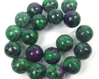 10mm Ruby Zoisite Round Beads Half Strandm(e7953)