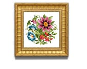 Pretty Flowers.  Flower cross stitch pattern. Instant download PDF.