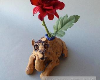 Camel Sculpture Ceramic Vase